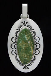High Grade Natural Pilot Mountain Turquoise Pendant By Charlie John