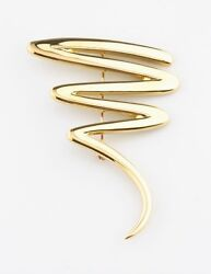 And Co.18k Or Jaune Paloma Picasso Grand Zig-zag Broche