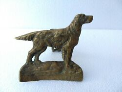 Vintage Brass Handcrafted English Setter Dog Crafted Collectible