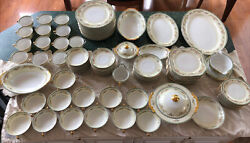 1920andrsquos-30andrsquos Meito Meime Hand Painted China Made In Japan-114 Pieces-excellent
