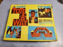 Vtg Fort Tote A Way 1722 Multiple Toymakers Cowboy Indian Playset