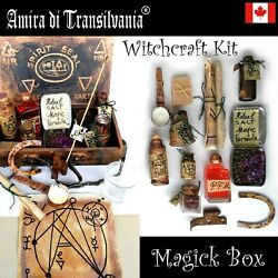 Box Witchcraft Kit Starter Ritual Magic Wicca Pagan Altar Witch Spell Curse Lot