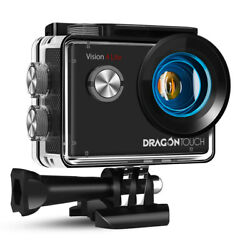 Dragon Touch Vision 4 Lite Action Sport Camera 4k Hd Waterproof 20mp Refurbished