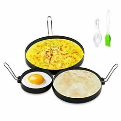 Stainless Steel Egg Ring 4 Inch 6 Inch 8 Inch Omelet Fried Round Bpa Free 3 Pack