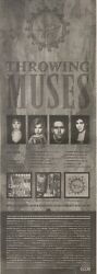 24/6/89pgn50 Advert See The Throwing Muses On Album And Live In Concert 15x5