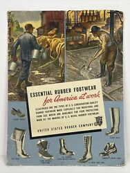 Us Royal United States Rubber Company Boot Cardboard Advertising Sign Not Tin