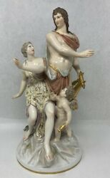 Fantastic Kpm Figures Orpheus Big And Great Condition Mid-1800s