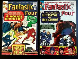 Fantastic Four - Silver Age Lot Of 8 Issues 34-60 Doctor Doom