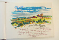 Jose Vives-atsara Original Drawing Inscribed To His Daughter And Signed Twice