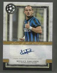 2020-21 Topps Museum Soccer Wesley Sneijder Auto D /99