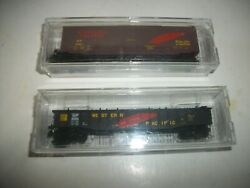 2 Micro Trains Western Pacific 50' Box Car And Fixed End Gondola N Scale New