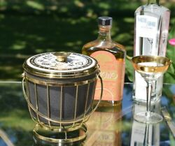 Vintage Georges Briard Ice Bucket With Gold Stand 1950and039s Home Bar Decor