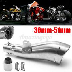 36-51mm Dolphin Shape Motorcycle Exhaust Muffler Pipe Silencer Stainelss Steel