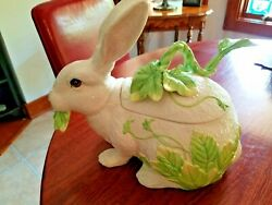 Vintage Fitz And Floyd Rabbit Soup Tureen With Ladle         1760