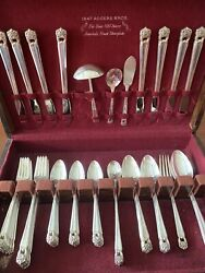 1847 Rogers Bros Silver Plated Eternally Yours Flatware Set 67 Pieces