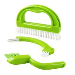 30xtile Brushes Grout 3-in-1 Heavy Duty Cleaning Brushes Scrubber For Household