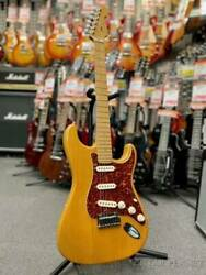 Used Fender American Deluxe St Type Scn -amber/maple- 2004 Free Shipping
