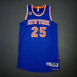 100 Authentic Derrick Rose 2015 Knicks Game Jersey Size Xl+2
