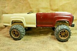 Vintage Tonka Metal Big Car Toy Cast Iron Red And White Dump Truck 1960's Rare