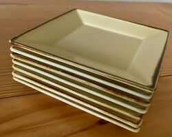 Pottery Barn Made In Japan Set Of 7 Yellow Salad Plates