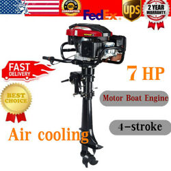7hp 4stroke Outboard Motor Fishing Boat Engine Air Cooling Tiller Control 196cc