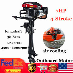 4-stroke 7hp Outboard Motor Fishing Boat Engine Air Cooling System Long Shaft