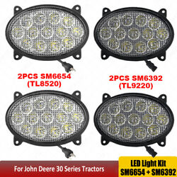 2pair Oval 65w 39w Led Tractor Lights For John Deere 8130,8230,8230t,8330,8330t