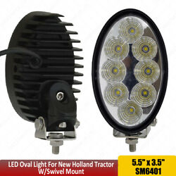 Oval 40w Led Work Lights 12v 24v With Emc Anti Interference For Jcb Tractors X1