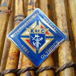 Vintage Knights Of Columbus Pin Fraternity Society Special Olympics 1991