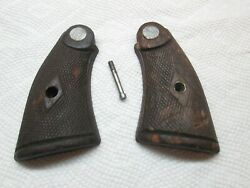 Smith And Wesson Pre-war Hand Ejector K Frame Grips - Diamond Checkered W Screw