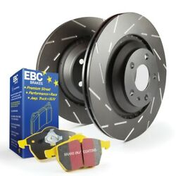 Ebc Yellowstuff Brake Pads And Slotted Rotors For 17-21 Rogue Sport [front]