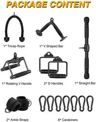 High Quality V Shape Pulldown Bar Double D Handle Home Gym Crossfit Workout
