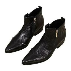 Mens Pointy Toe Side Zip Ankle Boot Motor Business Wedding Punk Shoes Formal New