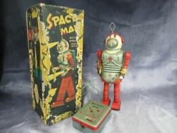 Vintage Nomura Space Man Battery Operated Remote Control Tin Walker Toy Bo Space