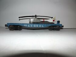 Lionel 6820 Aerial Missile Transport Car With Original Helicopter - Rare