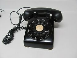 Vintage Western Electric Bell System Telephone Rotary Black Phone 500