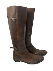 Brown Leather Tall Vintage Riding Boots- Women's Size 41 10