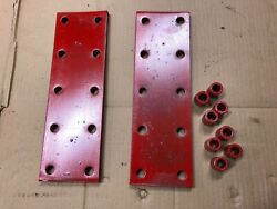 Farmall M H Sm Sh Tractor 10 Hole Fender Extension Bracket Plates Pr And8 Spacers