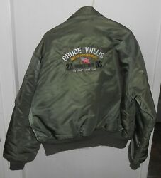 Bruce Willis And The Accelerators Band Signed Autographed Flight Jacket 2003