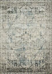 Loloi Anastasia 9and039-6 X 13and039 Rug In Blue And Slate Finish Anasaf-20bbsl96d0