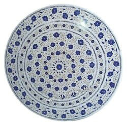 Lapis Lazuli Stone Inlay Kitchen Table Top Round Marble Dining Table Size 42