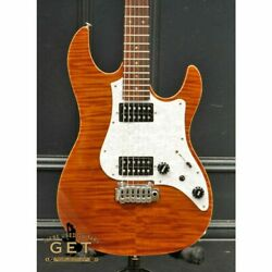 Fujigen Expert Os Eos-fm-hh Walnut Electric Guitar With Hard Case From Japan