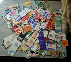 Lot /125 Old Matchbook Covers Mixed Restaurants, Bars, Airline, Train, Political
