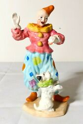 Rare Beswick Figure Of Clown With Dog 1086 Made In England
