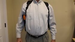 R /l Shoulder Holster Ruger Tx 22 W/ 6 Suppressor / S To Xxl Rig W Mag Pouch