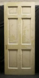 8 Available 34x83.5 Antique Vintage Interior Solid Wood Wooden Doors 6 Panels