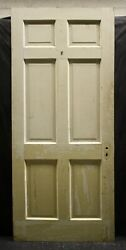 2 Available 30x83 Antique Vintage Interior Solid Wood Wooden Doors 6 Panels