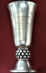 Antique Sports Cup Regatta Sterling Silver 800 Germany Potsdam 1930 Signed 405gr