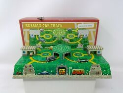 Schylling Collector Series Tin Litho Russian Car Track Wind Up Toy