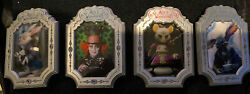 Disney Shopping Alice In Wonderland Creatures Artist Proofs Le100 Vhtf 4 Pins